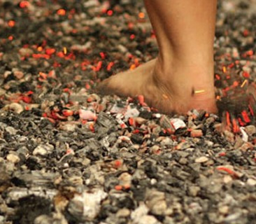Firewalking course